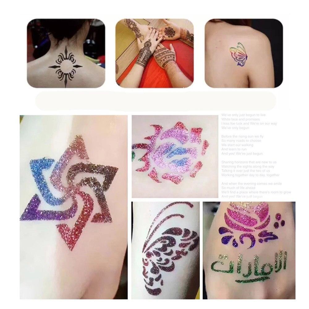 ISHOWTIENDA glitter tattoo maquina de tatuagem Glitter Tattoo Powder ...
