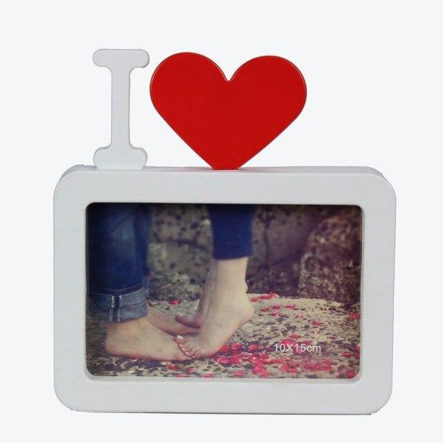 Pareja amor en forma de corazón rojo blanco foto Marcos para el ...