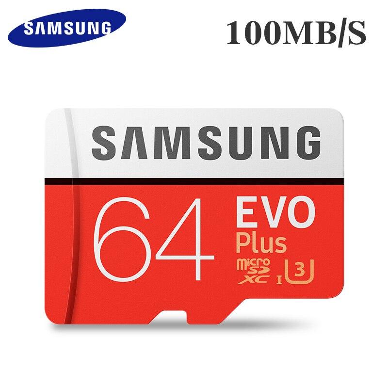 Оригинальная карта памяти SAMSUNG 16G 32G SDHC 64G 128G SDXC 100 МБ/с. S U3 4K Micro SD Class 10 Micro SD UHS TF Trans Flash Microsd карта