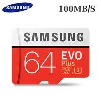 Carte mémoire d'origine SAMSUNG 16G 32G SDHC 64G 128G SDXC 100 mo/s U3 4K Micro SD classe 10 Micro SD UHS TF Trans Flash carte Microsd