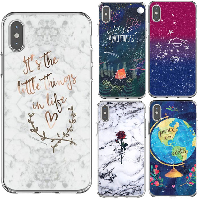 the best attitude 17952 0eb62 Its the little things in life Rose Marble Hard PC Phone Case Back Cover For  iPhone 5 5s SE 6 6SPlus 7 7Plus 8 8 Plus X XS MAX XR