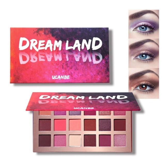 Paleta de sombra de ojos con brillo mate sombra de ojos cosméticos de larga duración fácil de usar maquillaje