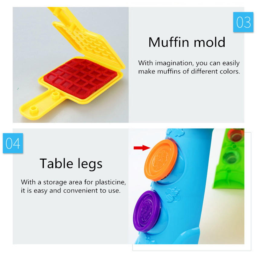 DIY Plasticine Table Animals Playdough Mud Foam Gadget Charm Play Clay Model Maker Putty Kit Polymer Fimo Tool Toys For Children