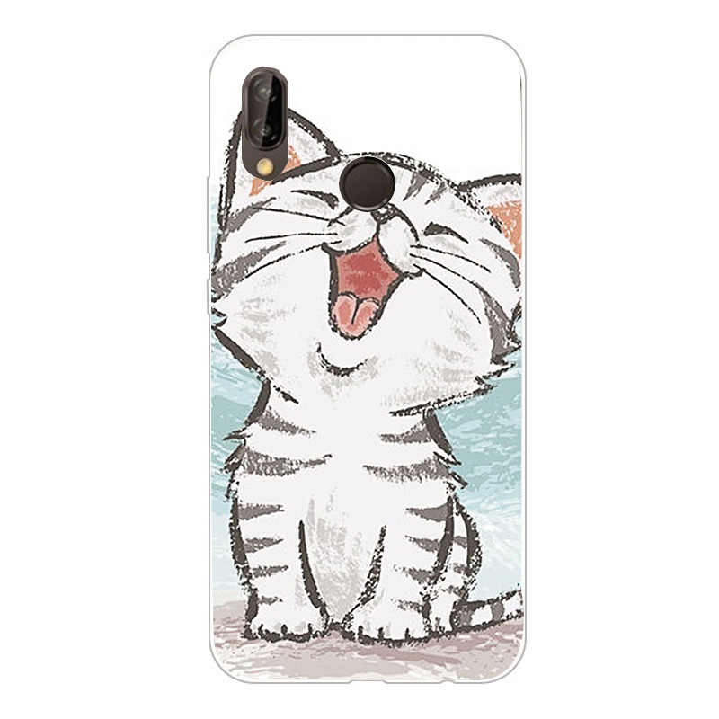 Cute Animal Minnie Marble Silicon Soft TPU Back Cover on for Huawei P20 Lite P 20 Pro P20Lite P20Pro Capa Luxury Phone Cases