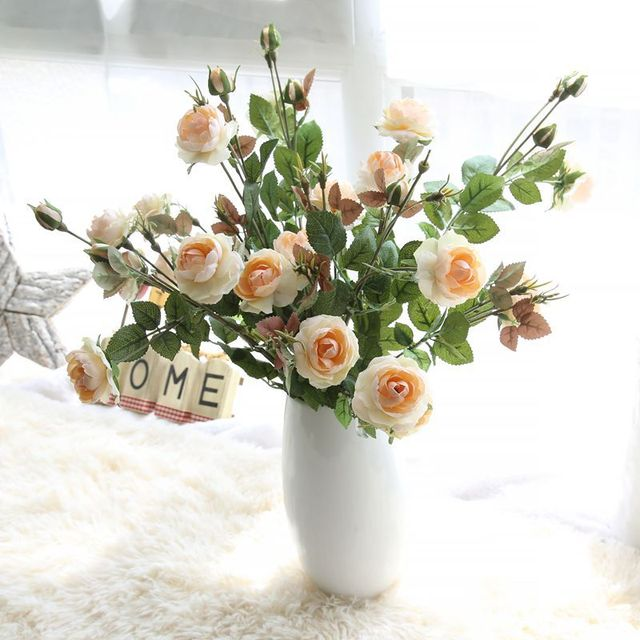 6pcslot vivid long rose artificial flowers real touch silk flower 6pcslot vivid long rose artificial flowers real touch silk flower simulation fake plant wedding mightylinksfo