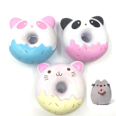 Squishy Jumbo Panda 10 Cm : 10CM Jumbo Kawaii Cute Squishy Panda/kitty Donut Bread Cream Scented Super Slow Rising Cartoon ...