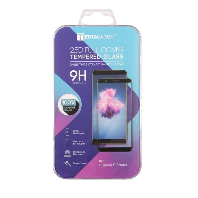 Защитное стекло MEDIAGADGET 2.5D FULL COVER GLASS для Huawei P Smart Plus