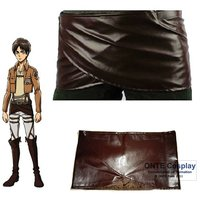 Anime Attack On Titan Cosplay Costumes Shingeki No Kyojin Eren Apron Leather Skirt Hookshot Clothes For