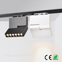 6W 12W 220v LED Track Light Clothing Shop store Showrooms Exhibition Spotlight Lighting System CREE LED Ceiling Rail Spot light