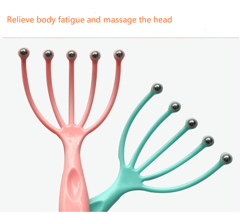 Relaxing Scalp Massager with Steel Ball in Five Finger to Relax Tense Muscles Helps in Improving Blood Circulation 8