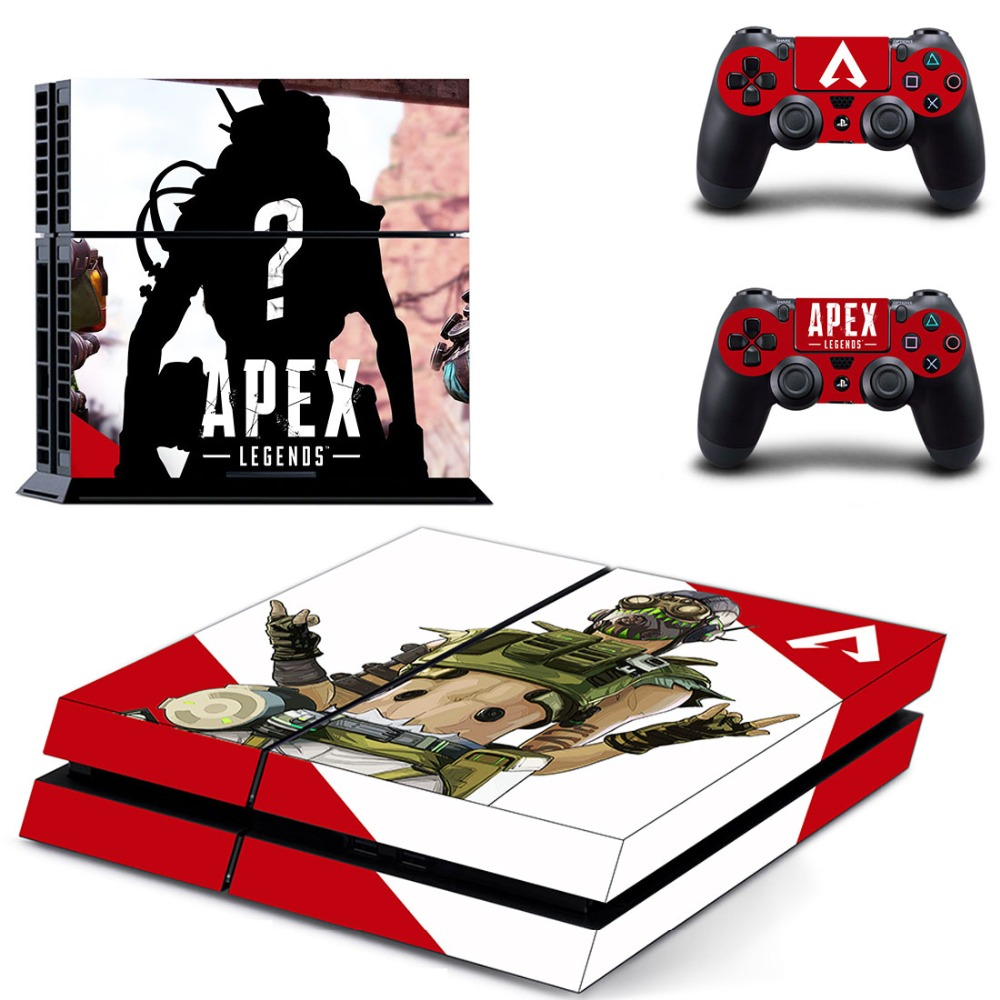 Game APEX Legends PS4 Skin Sticker Decal for Sony PlayStation 4 Console and 2 Controller Skin PS4 Sticker Vinyl