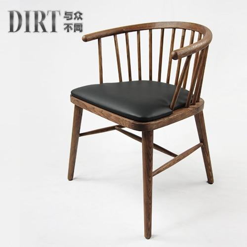 Eetkamer Stoel Ikea.New Chinese Japanese Ash Wood Chair Ikea Dining Chair Armrest
