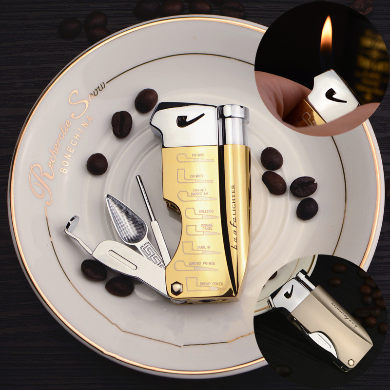 Slanted Flame Lighter For Smoking Pipe M