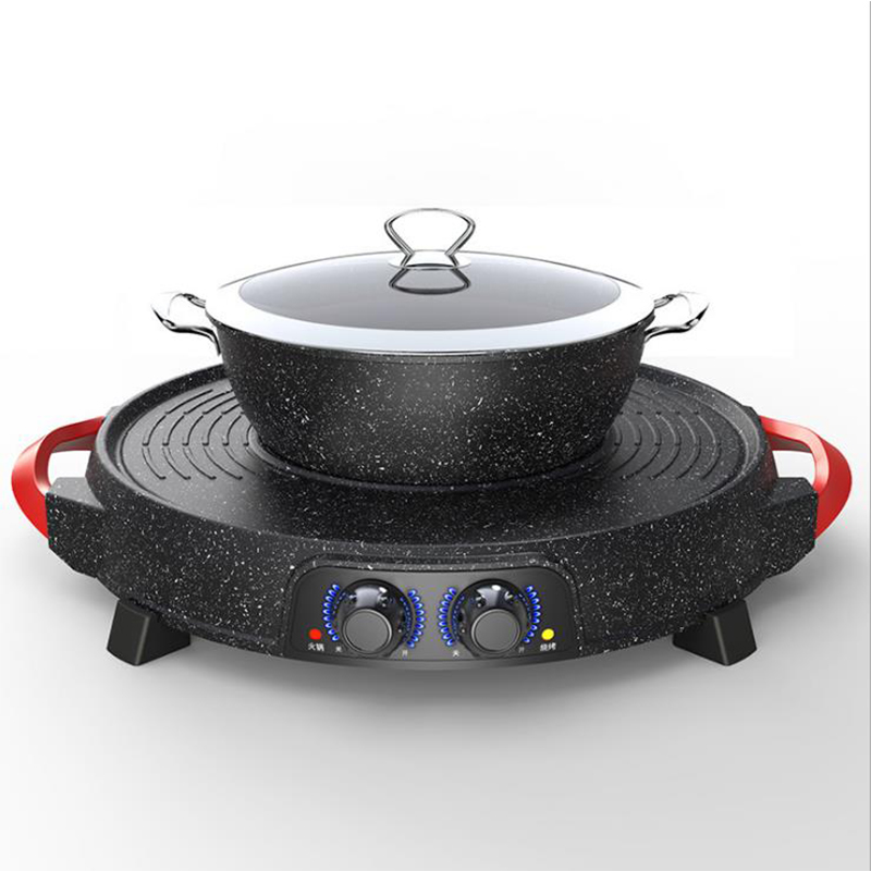 Multifunctional Electric Hot Pot Electric Griddle and Hot Pot All in One Machine Korean Style Electric Grill HTS-399Multifunctional Electric Hot Pot Electric Griddle and Hot Pot All in One Machine Korean Style Electric Grill HTS-399