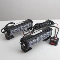 36W 12v Strobe Car Warning Light Truck Motorcycle LED Bar Daytime Running Lights Red Blue White