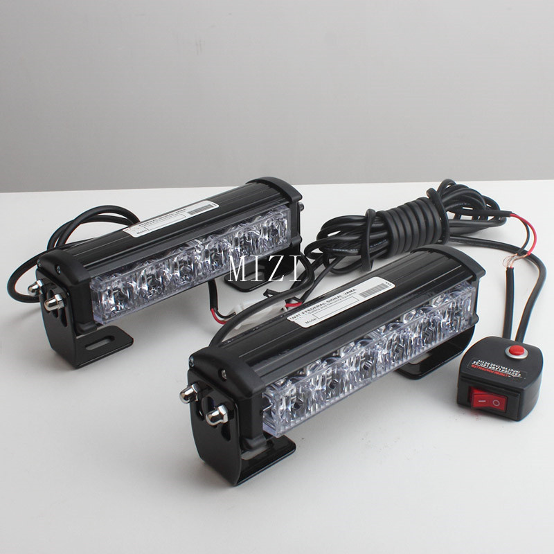36W 12v Strobe Car Warning Light Truck Motorcycle LED Bar Daytime Running Lights Red Blue White led Police Emergency Light ldrive 1pcs 36w 12v 24v car flash light red blue led cob car windscreen warning light police emergency flasher strobe lamp