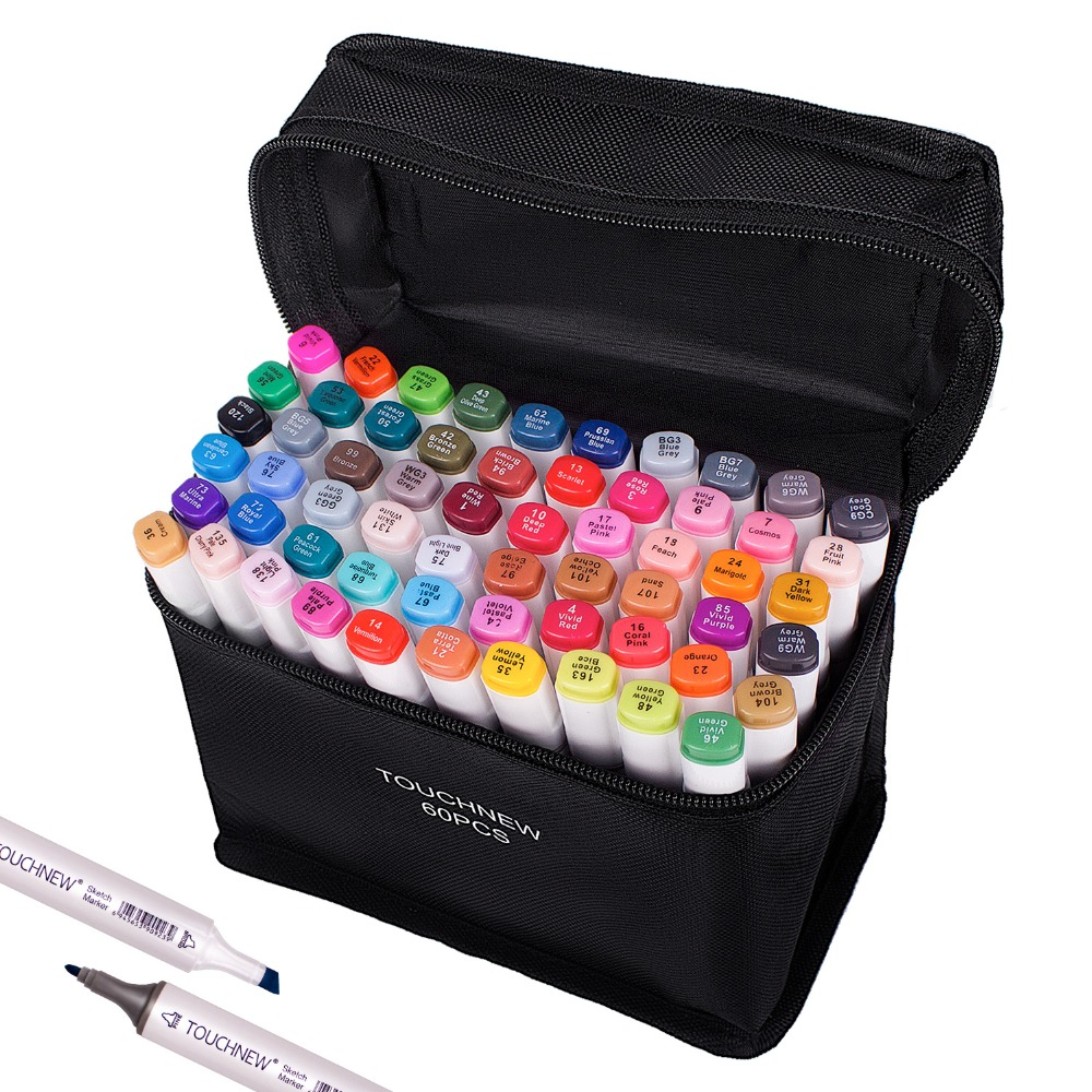 Touchnew Alcohol Sketching Markers 40/60/80/168 Colors for Drawing markers Calligraphy Lettering Pen Art Support Manga ColoringTouchnew Alcohol Sketching Markers 40/60/80/168 Colors for Drawing markers Calligraphy Lettering Pen Art Support Manga Coloring