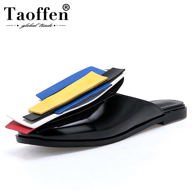 TAOFFEN Classic Women Mixed Color Dating Club Sandals Teens Buckle Flats Shoes Women Sandals Summer Party Shoes Women Size 32-43TAOFFEN Classic Women Mixed Color Dating Club Sandals Teens Buckle Flats Shoes Women Sandals Summer Party Shoes Women Size 32-43