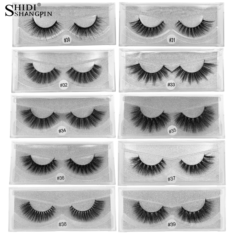 LANJINGLIN 1 Pair 3d Mink Eyelashes Makeup Natural Long False Lashes Fluffy Mink Fake Eyelashes Volume Eye Lashes Extension
