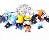 Naruto Uzumaki Naruto Anime śliczne Brelok figures hot sprzedaż 6 sztuk/partia Christmas gift