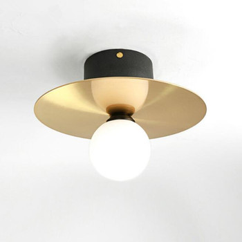 Nordic Flying Saucer Design Led Ceiling Lights Creative Vintage Brass Study Aisle Bar Kitchen Bedroom Ceiling Lamp Free Shipping