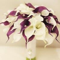Sherry Calla brooch bouquet white Bride Bridal Wedding Bouquet Bridesmaid Artificial flower Customizable bouquets
