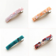 hairstyling tools Acetate Long Colorful Barrettes Elegant Hair Clips Headbands Lady Metal Hairpins Fashion Accessories