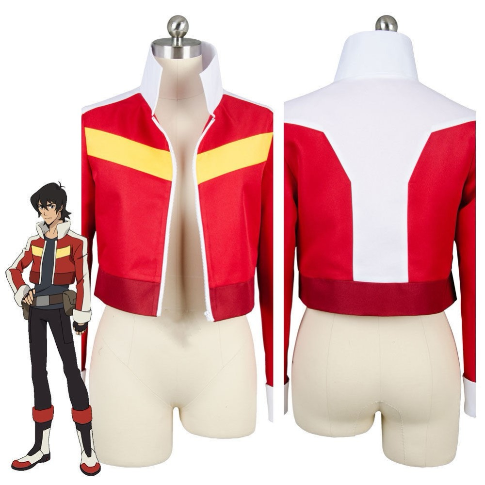 Voltron Legendary Defender of the Universe Keith Akira Kogane Costume Cosplay Big Zipper Jacket Party Figure Gift Drop Ship