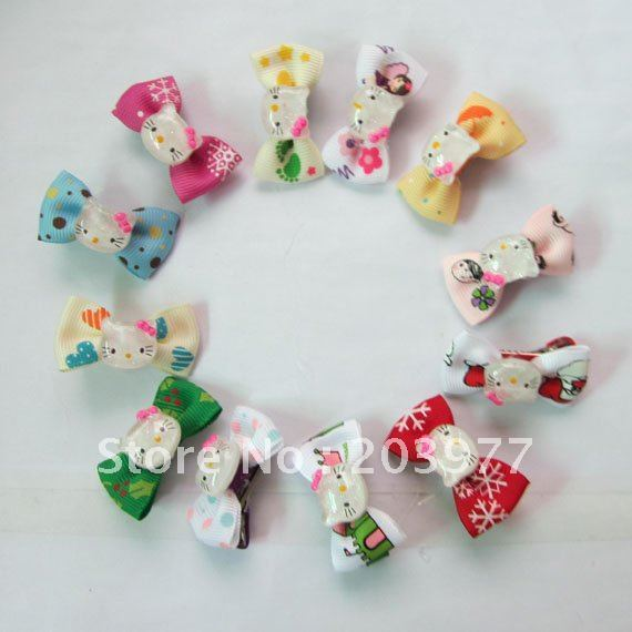 Baby Gril Headwear Hello Kitty Bowknot Hair Clips, Fashion Kid's Hair Accessories WD027
