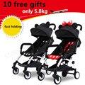 Quatro rodas carrinho de bebê super Leve 10 Presentes de cadeiras de rodas Dobrável Amortecedores Carro Guarda-chuva Troller 29 Cores Acessórios