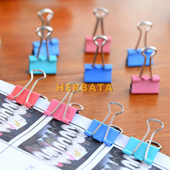 10PCS/lot 15mm Colorful Metal Binder Clips Paper Clip Office Stationery Binding Supplies Notes Letter File Bookmark Student 1