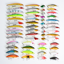 56Pcs/lot Mixed 8 Models Fishing Lures Set Minnow Fishing Tackle Isca Artificial Hard Bait Pesca Fishing Wobblers