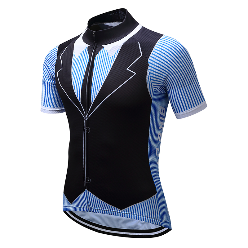 Funny Retro Cycling Shirts Tops Summer Maillot Men's Mountain Bike Clothes Bicycle Jersey Sportswear MTB Clothing T Shirt Wear
