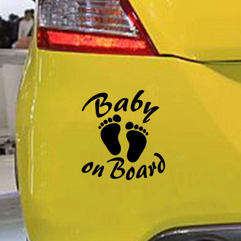 14 1 15 2CM BABY ON BOARD Warning Car sticker Creative Vinyl Decals Motorcycle Accessories in Car Stickers from Automobiles Motorcycles
