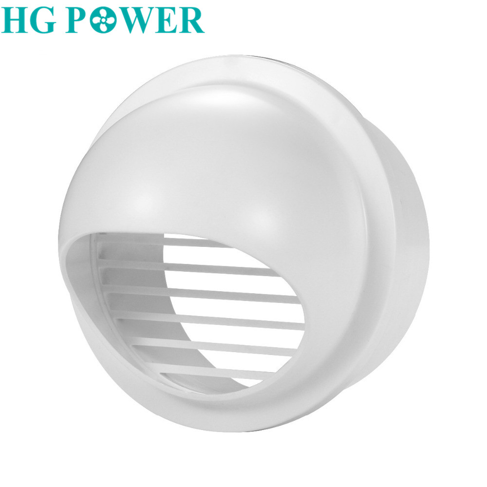 4/6inch ABS Round Wall Air Vent Ducting Ventilation Exhaust Grille Cover Outlet Heating Cooling & Vents Vents Household Supplies