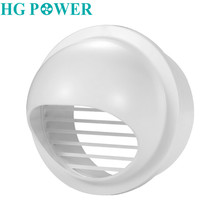 4/6inch ABS Round Wall Air Vent Ducting Ventilation Exhaust Grille Cover Outlet Heating Cooling & Vents Household Supplies