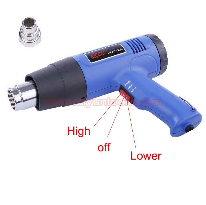 Купить 1500 Вт регулируемая температура горячего воздуха пистолет нагреватель нефтешламов размягчения электрические тепловые пушки дешево