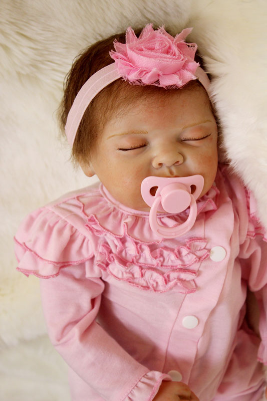 Silicone Reborn Baby Dolls Toy Lifelike 55cm Princess Newborn Sleeping Girl Babies Dolls Lovely Birthday Gift Kid Child Present free shipping hot sale real silicon baby dolls 55cm 22inch npk brand lifelike lovely reborn dolls babies toys for children gift
