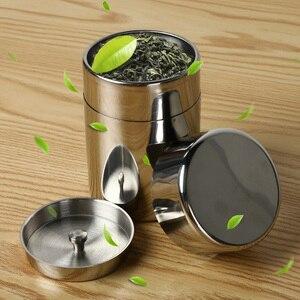 Металлическая банка для хранения из нержавеющей стали, герметичная с крышкой, может держать чай и сладости, специи, чехол из алюминиевого сп...
