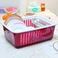 Dish Rack Home Kitchen Organizers Kitchen Storage Boxes Shelf Plate Dish Drainer Bowl Cup Spoon