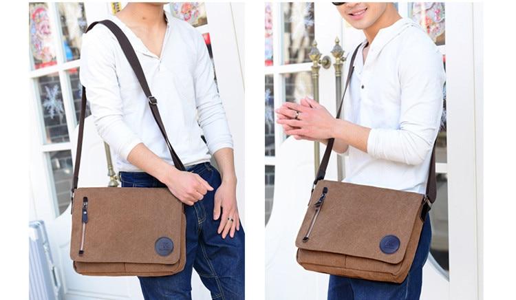HTB1HNr8azzuK1RjSspeq6ziHVXad 2019 Vintage Men's Briefcase Canvas Men Messenger bag Classic Designer Shoulder Bags Pocket Casual Business Laptop Travel bags