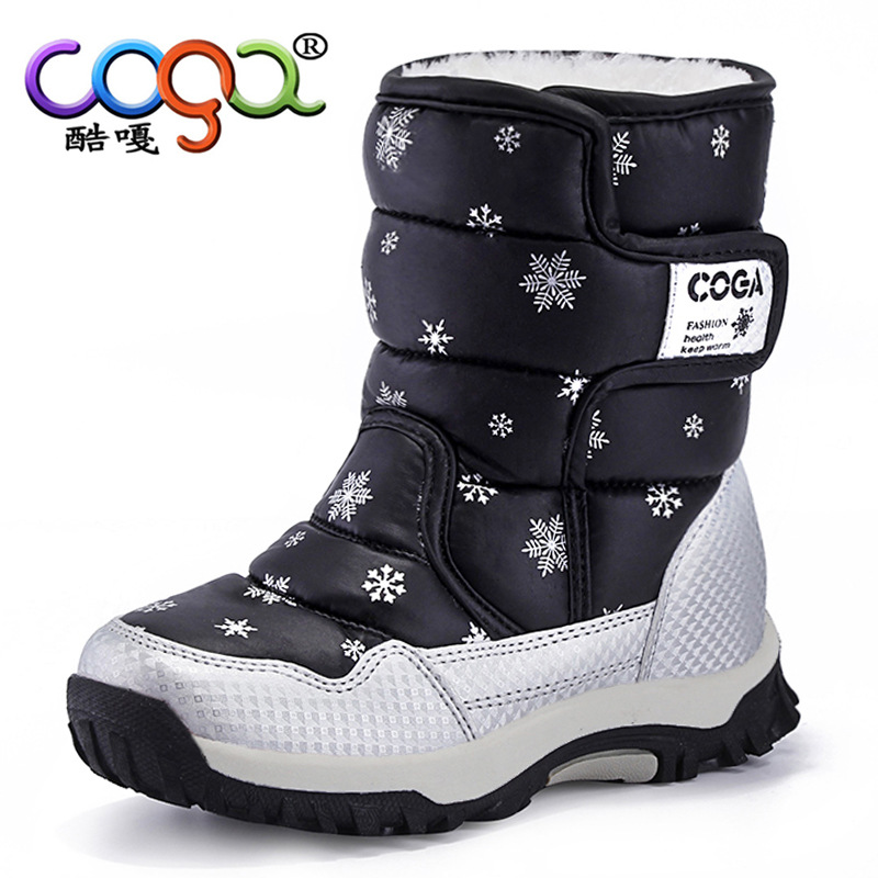 Winter Waterproof Kids Boots Girls Shoes Chaussure Enfant Fille Leather Boys Motorcycle Boots Thick Cotton Padded Shoes TX199 high quality kids boots girls boots fashion leather snow boots girls warm cotton waterproof girls winter boots kids shoes girls