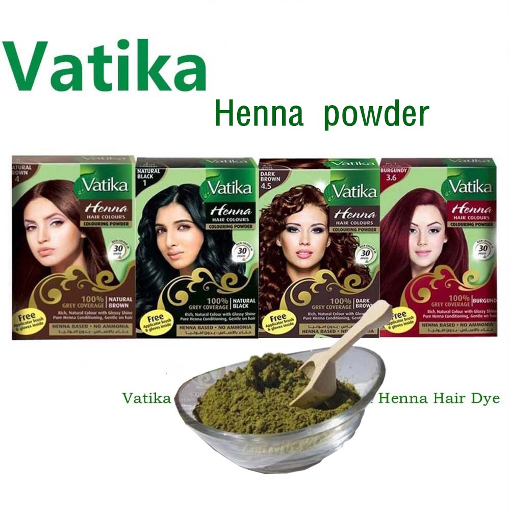 Vatika High Quality Pure Natural Henna Hair Dye/ Henna Eyebrow Tint Kit, Ideal For Hair, Beard & Eyebrows 30-minute Fast Dye
