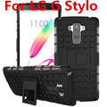Back Cover Case For LG G Stylo Phone Case 2in1 Dual Layer Kickstand Heavy Duty Armor Shockproof Hybrid Silicone Case For LG G QS