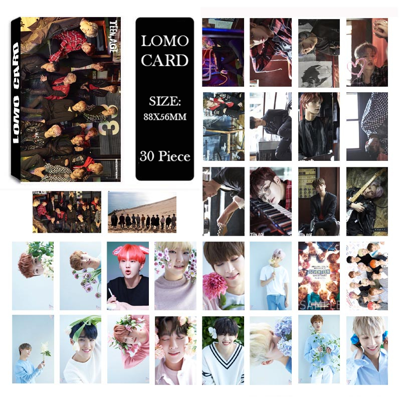 Youpop Kpop Seventeen Teen Age Album Lomo Cards K-pop New Fashion Self Made Paper Photo Card Photocard Lk541 Ideal Gift For All Occasions Beads & Jewelry Making