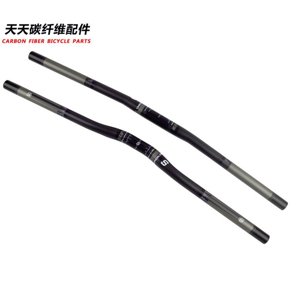 /660/Handlebar Bicicleta fibra de carbono 3/K carbon MTB manillar 25,4/larga 580/