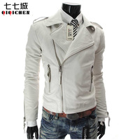 Leather Jacket Men Motorcycle Jackets Jaqueta de Couro Masculina Motoqueiro Casaco Male Leather Bomber Jacket Mens Veste Homme