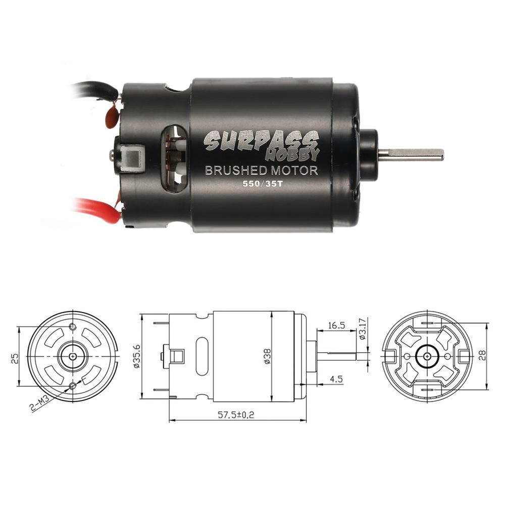 SURPASSHOBBY 550 27T Brushed Motor Parts for 1 10 RC Car Drift Touring Off road Crawler Redcat HSP HPI Wltoys Kyosho TRAXXAS in Parts Accessories from Toys Hobbies