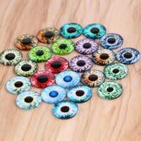 Onwear 50pcs super mince poupée yeux photo rond verre cabochon 14mm bricolage dos plat fait main bijoux résultats pour scrapbooking