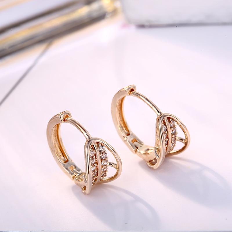 FYM Brand High Quality 3 Colors Round Shape Luxury Hoop Earrings AAA Cubic Zircon Earrings For Women Party